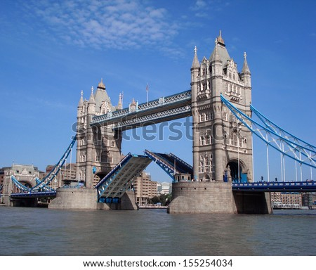 Tower Bridge, London, UK.  - stock photo
