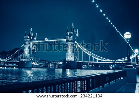 tower Bridge monochrome  - stock photo