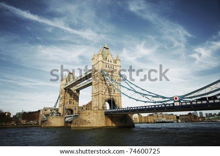 tower bridge of London at day - stock photo