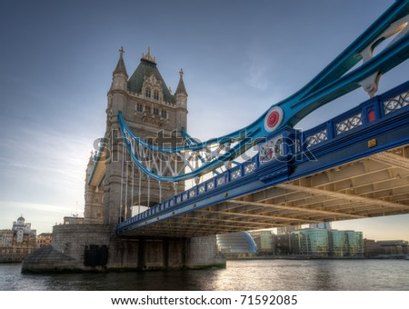 Tower Bridge over the River Thames, London, England