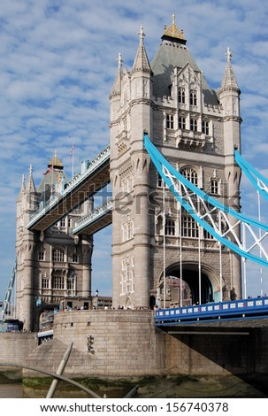 Tower Bridge, over the River Thames, London, England, UK