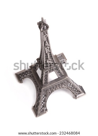 tower figurine on a white background - stock photo