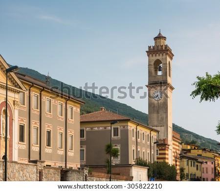 Tower in Castelletto di Brenzone (Lake Garda, Italy) - stock photo