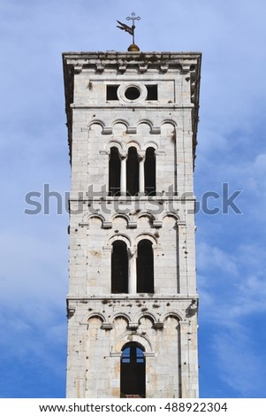 tower in Lucca - Tuscany in Italy