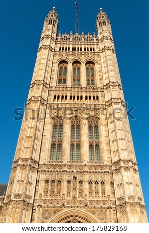 Tower in the building of British Parliament