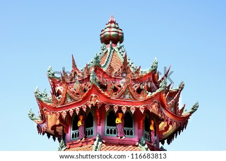 tower of a chinese temple
