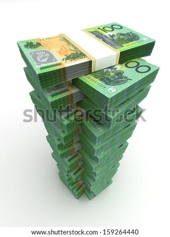 Tower of Australian Dollar - stock photo