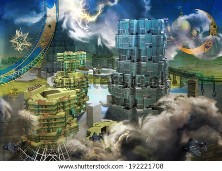 Tower of Babel - stock photo