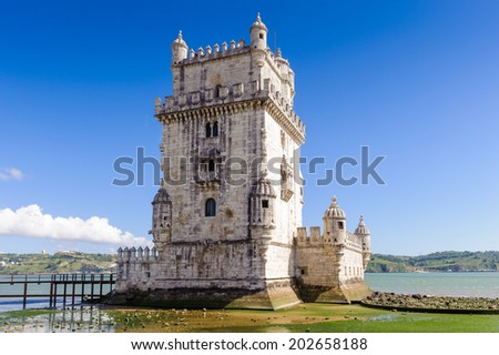 Tower of Belem. It's a UNESCO world heritage and one of the Seven Wonders of Portugal