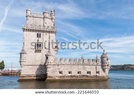 Tower of Belem on the bank of the Tagus River