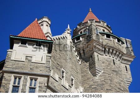 Tower of Casa Loma Castle in Toronto, Canada - stock photo