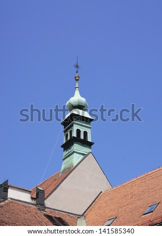 Tower of church in Zagreb