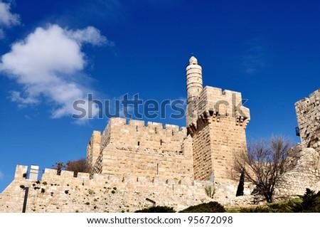 Tower of David Museum, Jerusalem, Israel - stock photo