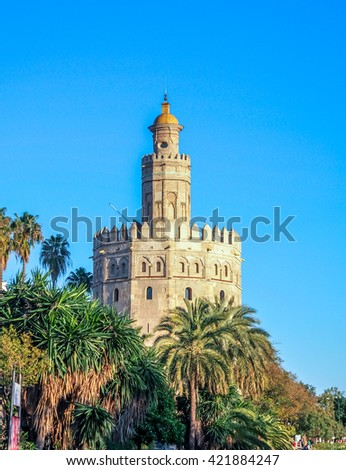 Tower of gold (Torre del Oro) in Sevilla, Spain