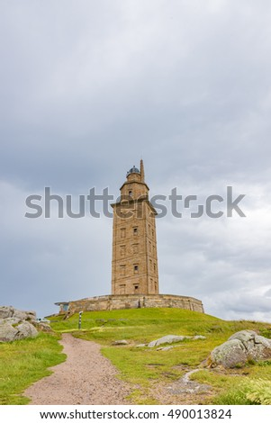Tower of Hercules in A Coruna, Spain - A UNESCO World Heritage Site