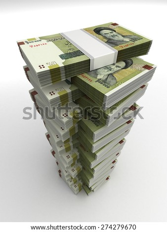 Tower of Iranian Rial - stock photo