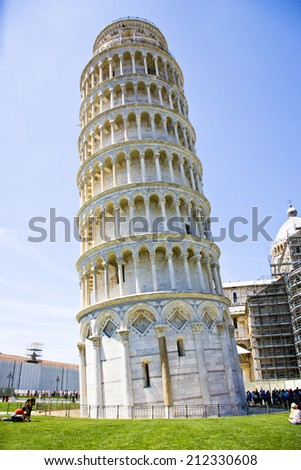 Tower of Pisa in the Piazza dei Miracoli - Tuscany