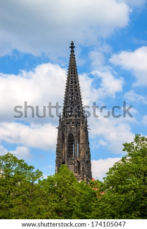 Tower of St. Lamberti church in Munster, Germany