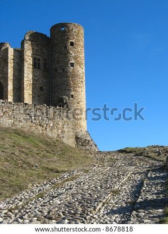 Tower of the castle of Portes, Gard, France