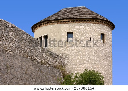 Tower of the Castle of Trsat in Rijeka, Croatia - stock photo