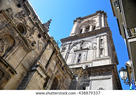 tower of the Cathedral of Granada , Spain