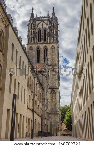 Tower of the Liebfrauenkirche church in Munster, Germany