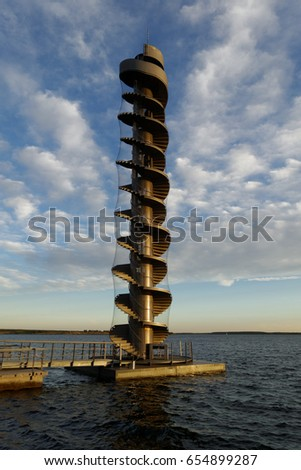 Tower on the beach in Bitterfeld, Germany