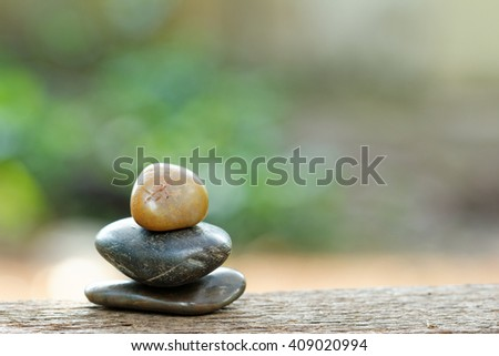 Tower stone with beautiful bokeh in the background background. Concept of tranquility,peace and relaxing. - stock photo