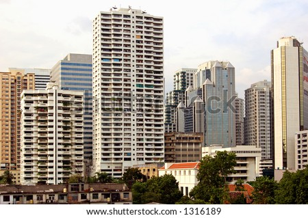 Towerblocks in central Bangkok