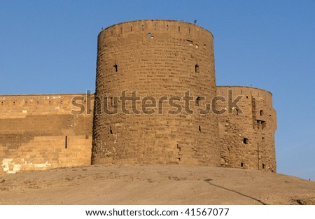 Towers in the Saladin Citadel of Cairo - stock photo