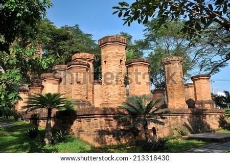 Towers were built by the Cham civilization. Nha Trang, Vietnam  - stock photo