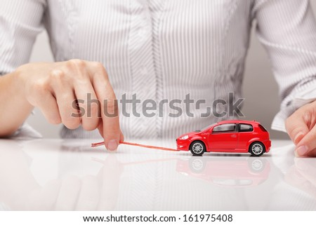 Towing vehicle (concept) - stock photo