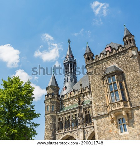 town hall in Aachen (Aix-la-Chapelle), germany