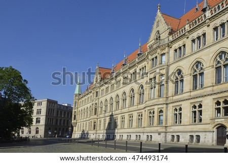 Town hall in Braunschweig, Germany.