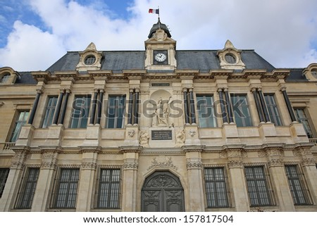 Town Hall in Troyes. Aube. France