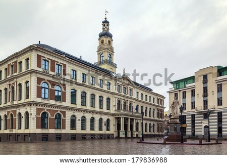 Town hall located in the Riga old town, Latvia