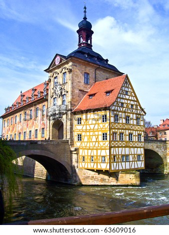 town-hall of the old town of Bamberg, Germany - stock photo