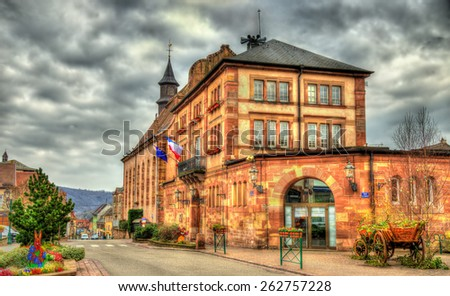 Town hall of Wasselonne - Bas-Rhin, Alsace, France - stock photo