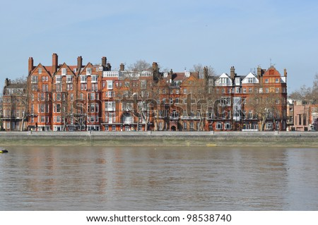 Town Houses in London England - stock photo