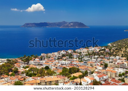 Town Kas, Mediterranean Coast, Turkey - stock photo