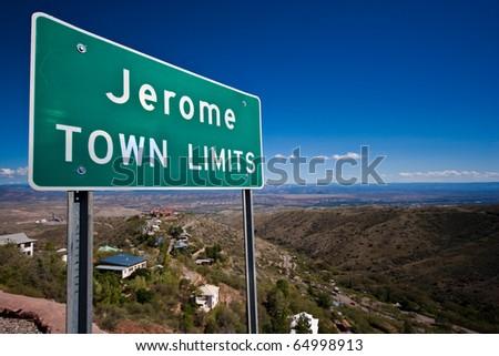 Town Limit - stock photo
