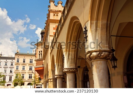 Town market square Sukiennice in Krakow - stock photo