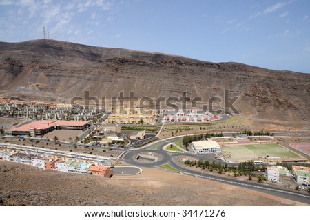 Town Morro Jable, Canary Island Fuerteventura, Spain