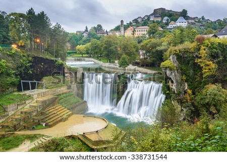 Town of Jajce, Bosnia and Herzegovina - stock photo