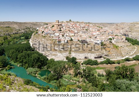 Town of Jorquera from a viewpoint