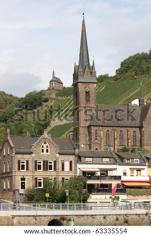 Town of Lorchhausen, Germany Along the Rhine