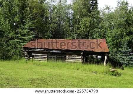 Town of Wiseman in Alaska - stock photo