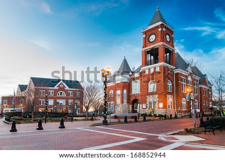 Town square in Dallas, Georgia - stock photo