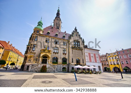 Town square in Jawor - Poland