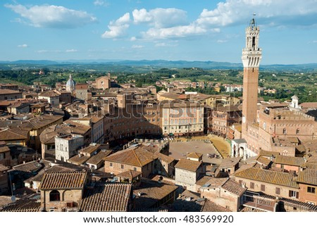 Town square of Siena, Italy